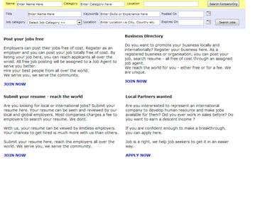 asp.net job site