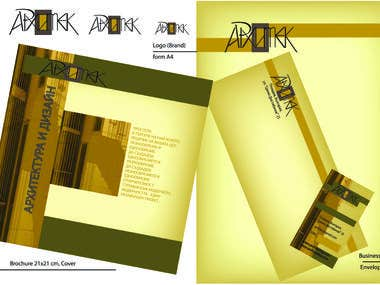 Advertising materials for Architecture studio