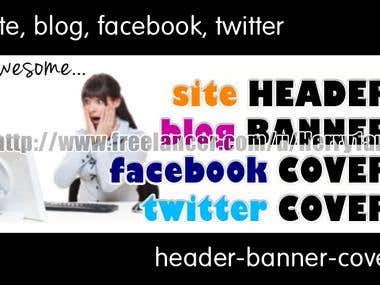 Some of my design for Header / Banner / Cover / Background
