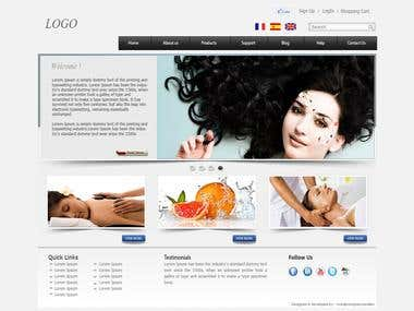 Spa And Saloon Website Design