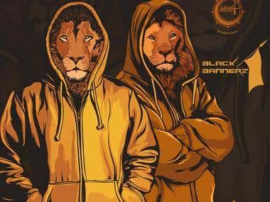 Hip Hop album cover for Black Bannerz