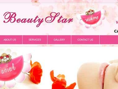 website for beauty and hair saloon