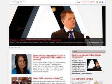 Web development, www.nakotnesforums.lv