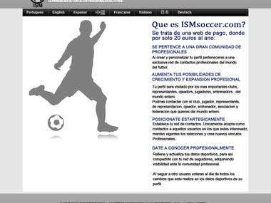 Social networking website for soccer professionals..