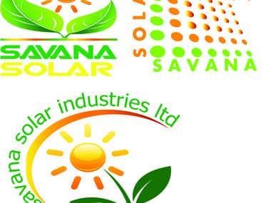 savana solar logos design