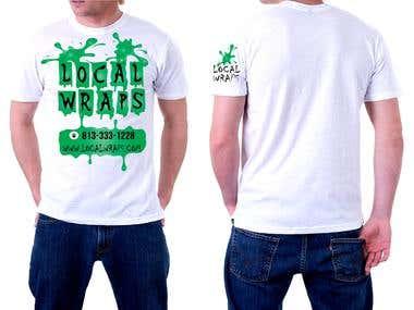 white t-shirt design