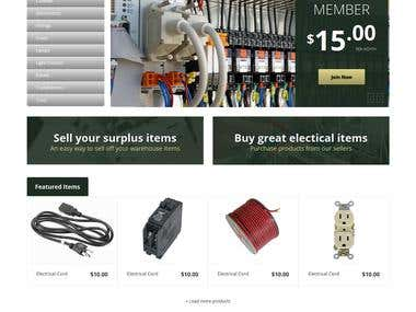 Electrical Product selling Website