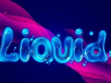 Liquid text effects
