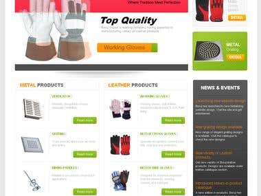 web design for simple manufacturing company