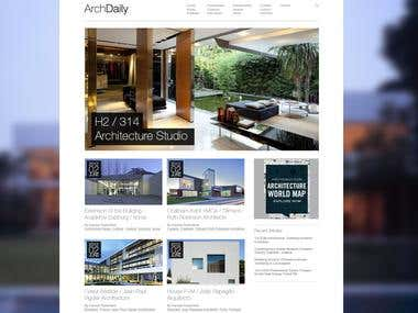 Arch Daily Homepage