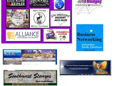 Sample logo and website graphic design