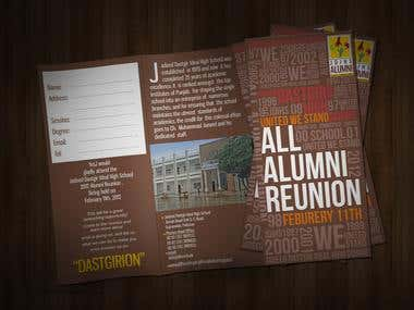Alumni Flyer design