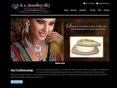 H.V.Jewellery WordPress Website
