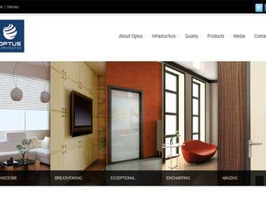 Optus Laminates WordPress Website