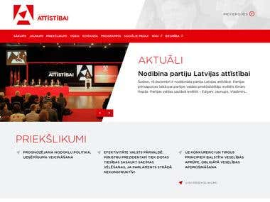Web development, www.attistibai.lv