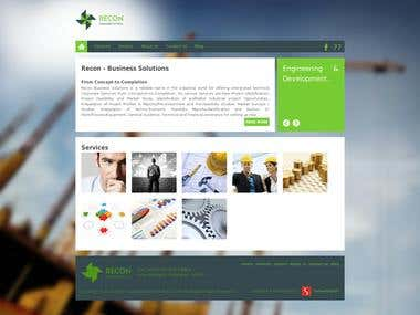 Recon India Website Design