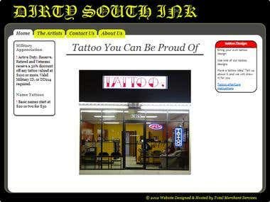 Dirty South Ink Website