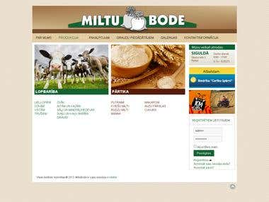 Website www.miltubode.lv