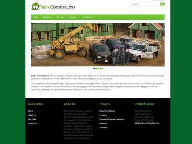 Wordpress Construction Presentation Website