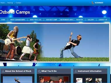 Ozband Camps: Joomla Project