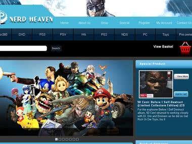 Nerd Heaven : A Ecommerce Website