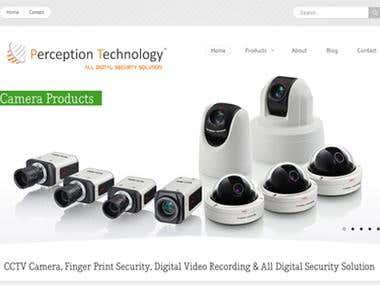 Perception Technology WordPress Based Website