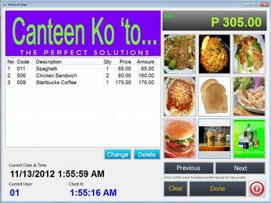 POS for Canteen/Fastfood