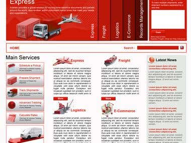 Courier service Design and developmet
