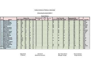 Excel Data Entry Work