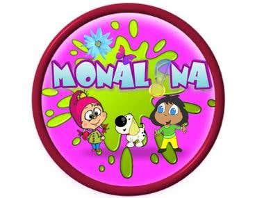 LOGO DESIGN FOR MONALINA KIDS ACCESSORIES SHOP