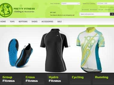 Pretty Fitness Clothing Company (Magento eCommerce Project)