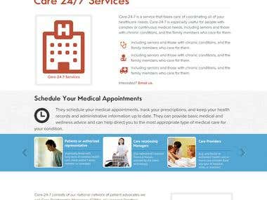 Virtual Health Care Service: PSD to HTML 5