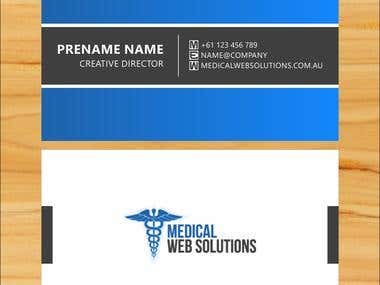 Business Cards for a Web Company