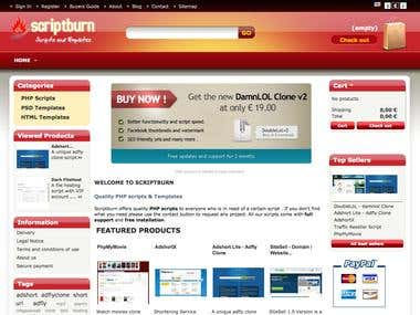 Script selling site