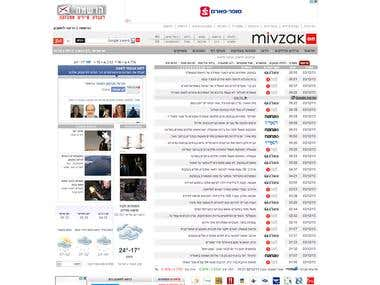 News and content portal.