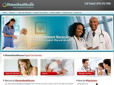 Sam Healthcare web design