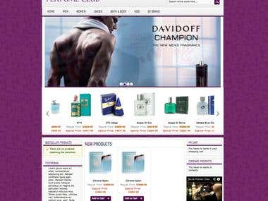 Magento Perfume site for Canadian client