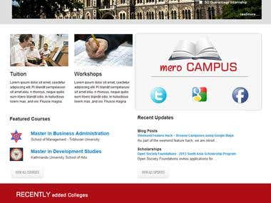 merocampus Website Design