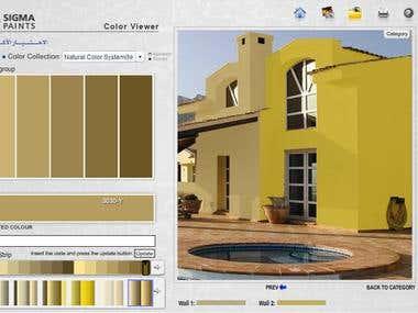 Color viewver Flas app