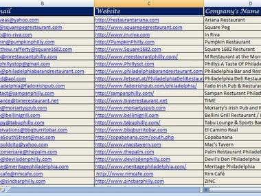 Internet Research & Data Entry