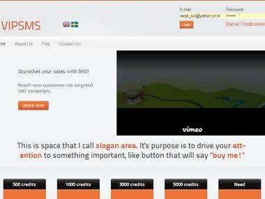 Vipsms website