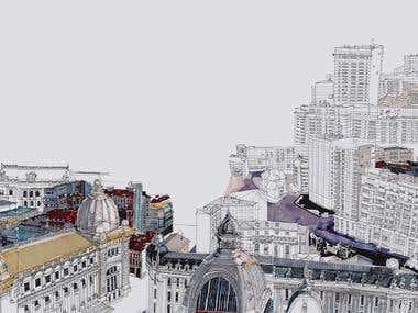 Above Bucharest