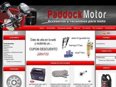 Venta de accesorios y recambios para motos en PaddockMotor
