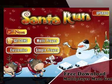 Santa Maze Run