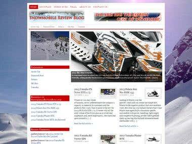 Snowmobile Review Blog Website