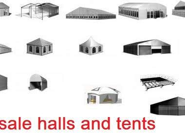 For sale halls and tents