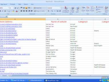 MS Excel and Web research