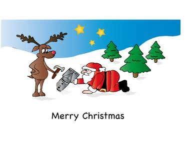 Company Christmas card -1st Line Defence - bomb Disposal