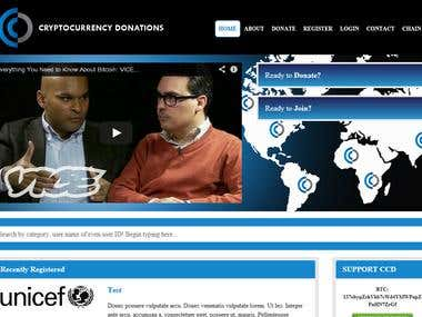 Website backpanel image design