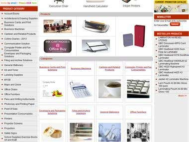 eCommerce website selling Complete Office Stationery Product